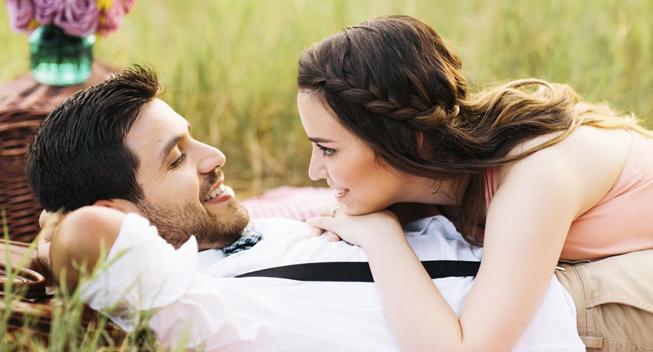 young couple having romance