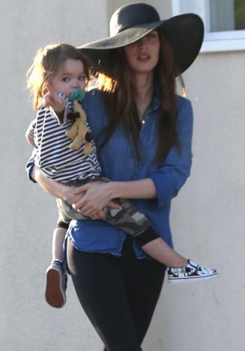 Exclusive... Megan Fox & Brian Austin Green Take Their Sons To Dinner