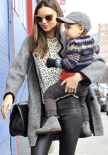 Miranda Kerr Takes Baby Boy Flynn Bloom To Her Photoshoot
