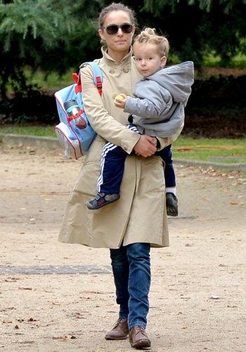 Natalie Portman and Aleph spend time at the amusement park **USA ONLY**